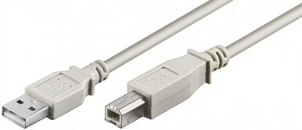 USB 2.0 Kabel, Typ AB, doppelt geschirmt, 5m Länge